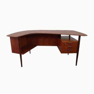 Teak Schreibtisch von Hans Hartl für WK Möbel, 1950er