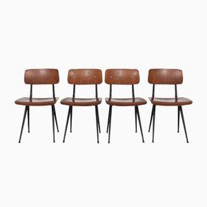 Vintage Result Chairs by Friso Kramer for Ahrend de Cirkel, 1960s, Set of 4
