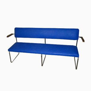 Vintage German Steel Pipe Bench
