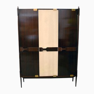Armario italiano de madera, años 50