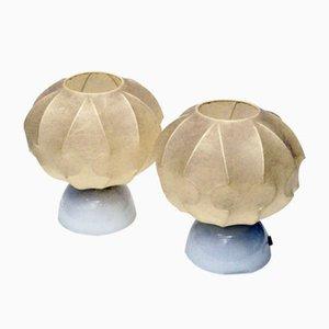 Italian Cocoon Lamps, 1960s, Set of 2