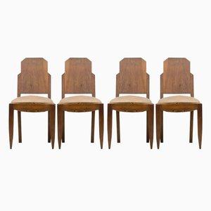 Chaises de Salon Vintage Art Déco, Set de 4