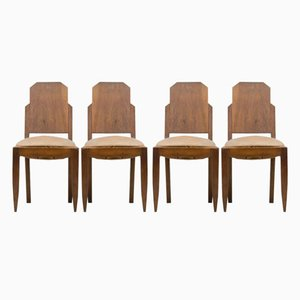 Vintage Art Deco Dining Chairs, Set of 4