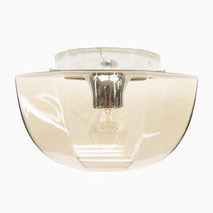 Wandlampe aus Rauchglas & Chrom, 1960er