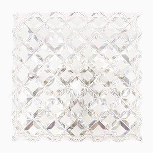 Lámparas de pared de cristal, años 60. Juego de 3