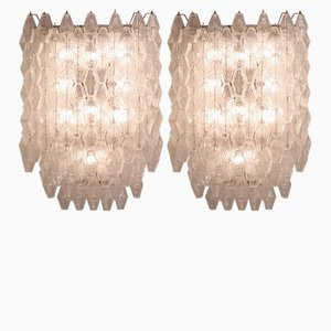 Wall Lights by Carlo Scarpa for Venini, 1950s, Set of 2