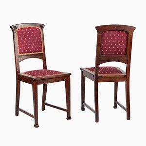 Antike Jugendstil Stühle, 2er Set