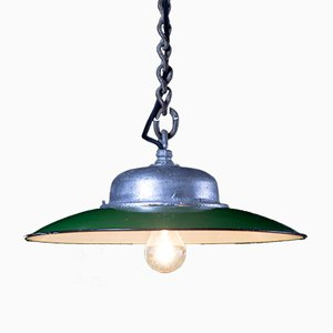 Plafonnier Vintage d'Usine Vert