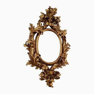 Vintage Italian Golden Mirror, 1970s