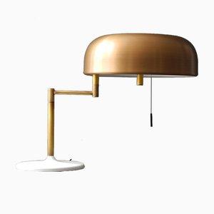 Lámpara de mesa con pantalla de latón de Staff, años 60
