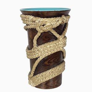 Corde Vase von Ugo Zaccagni für Zaccagnini Ceramiche, 1938