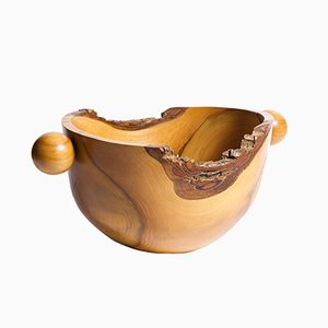 Vintage Czech Handmade Wooden Bowl by Antonin Hepnar