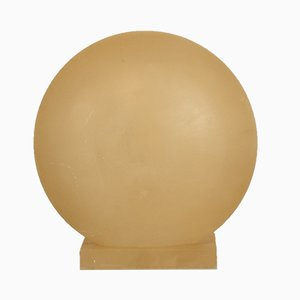 Mid-Century Round Modern Alabaster Table Lamp, 1970s