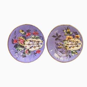 Piatti in ceramica fatti a mano, Italia, anni '60, set di 2