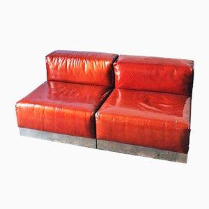 Lackierte italienische Vintage Sitzmodule von Cinova, 1970er, 2er Set