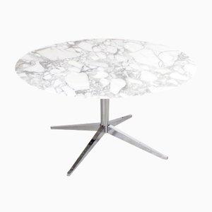Tavolo da pranzo vintage rotondo in marmo di Florence Knoll per Knoll International