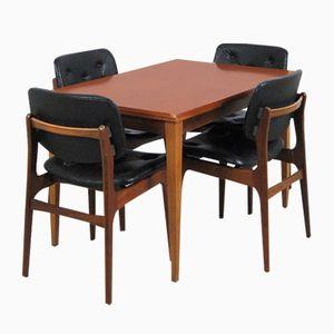 Sedie da pranzo con tavolo allungabile di Kondor, set di 5, anni '60