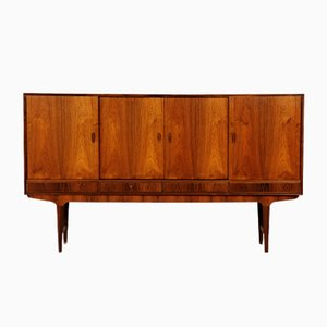 Mid-Century Danish Rosewood Credenza with Bar Cabinet, 1960s