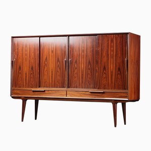 Mid-Century Danish Rosewood Credenza Highboard by Omann Jun, 1960s