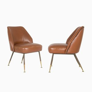 Campanula Chairs by Carlo Pagani for Arflex, 1952, Set of 2