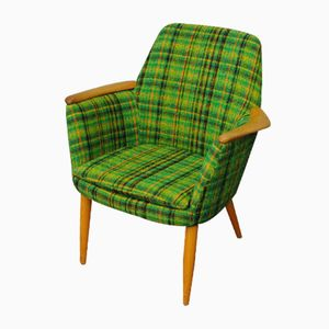 Danish Green Tartan Armchair, 1960s