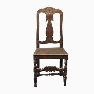 Baroque Danish Painted Wood Chair, 1860s