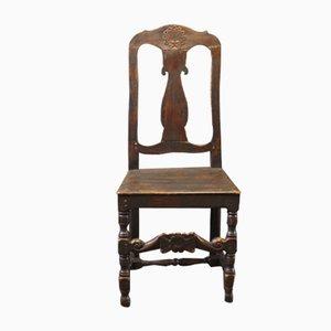 Baroque Danish Painted Wood Chair, Danemark,1860s