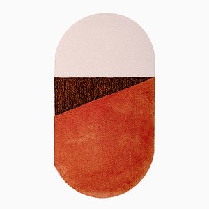 Medium RG Orange/Brown Oci Rug by Seraina Lareida for Portego