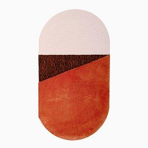 Tappeto medio RG Oci arancione/marrone di Seraina Lareida per Portego