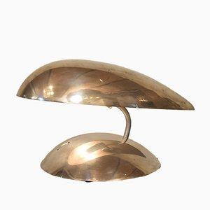 Lámpara de mesa era espacial de aluminio pulido, años 80