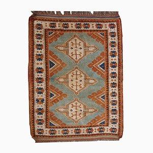 Tappeto vintage fatto a mano, Kazakistan, anni '70