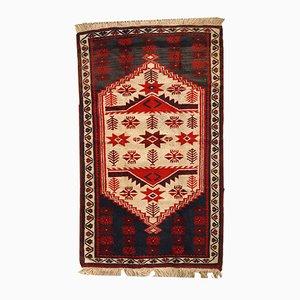 Alfombra anatolia turca vintage hecha a mano, años 70