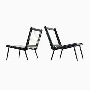Französische Mid-Century Sessel von Georges Tigien, 1950er, 2er Set