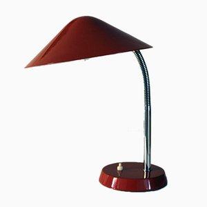 Lámpara de escritorio cromada con brazo flexible, años 50