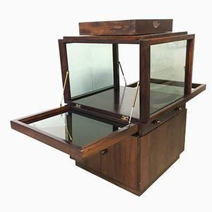 Mobile bar in palissandro e vetro di Vittorio Introini per Luigi Sormani, anni '60