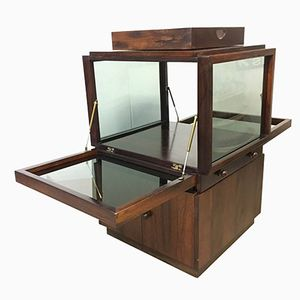 Rosewood & Glass Bar Cabinet by Vittorio Introini for Luigi Sormani, 1960s