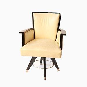 Chaise de Bureau Art Déco Noircie
