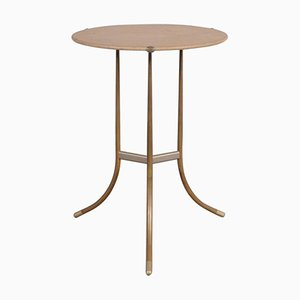 Round American Side Table by Cedric Hartman, 1970s