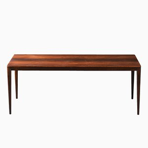 Long Danish Rosewood Coffee Table by Erik Riisager Hansen for Haslev, 1960s