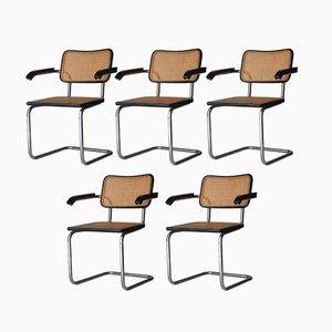 Italienische Cesca-B64 Stühle von Marcel Breuer für Gavina, 1962, 5er Set