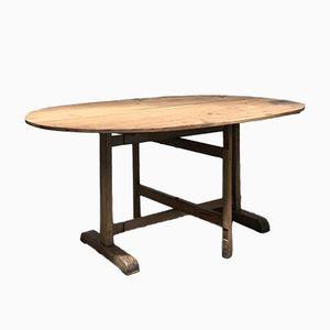 Ovaler Vintage Holztisch