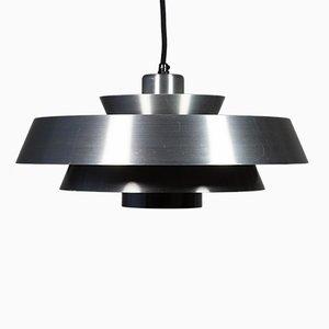 Mid-Century Danish Aluminum Ceiling Lamp by Johannes Hammerborg for Fog & Mørup, 1960s