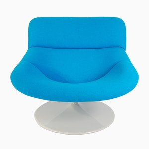 Sedia girevole F518 vintage blu di Geoffrey Harcourt per Artifort