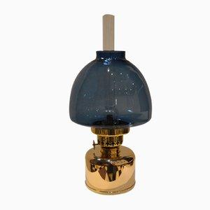 Blaue Vintage Kerosin- oder Öllampe von Hans-Agne Jakobsson