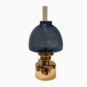 Vintage Blue Kerosene or Oil Lamp from Hans-Agne Jakobsson