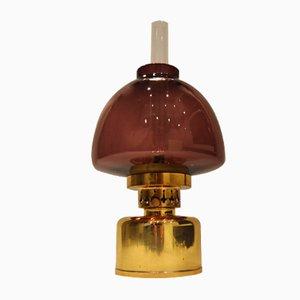 Lila Vintage Kerosin- oder Öllampe von Hans-Agne Jakobsson