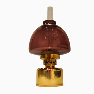 Vintage Purple Kerosene or Oil Lamp from Hans-Agne Jakobsson