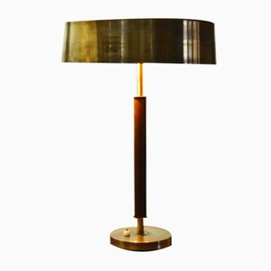 Swedish Brass Table Lamp, 1950s
