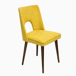 Yellow Side Chair by Leśniewski for Bydgoska Fabryka Mebli, 1970s