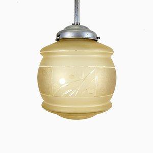 Lámpara colgante francesa Art Déco vintage